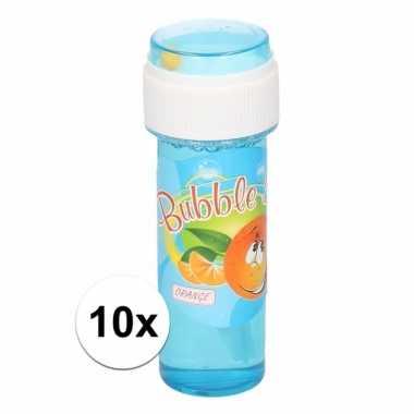 10x voordelige bellenblaas sinaasappel geur