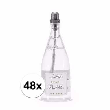 Bruiloft bellenblaas champagne 48x