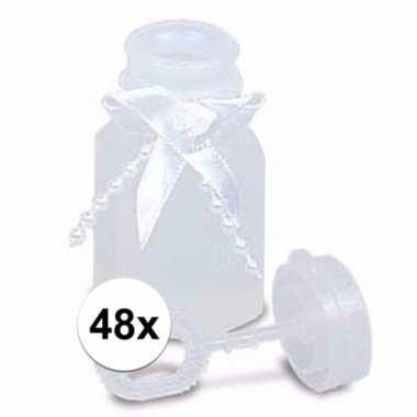Bruiloft bellenblaas met strik 48x