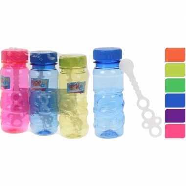 Gekleurde bellenblaas flesjes 3 stuks 115ml rood/oranje/paars