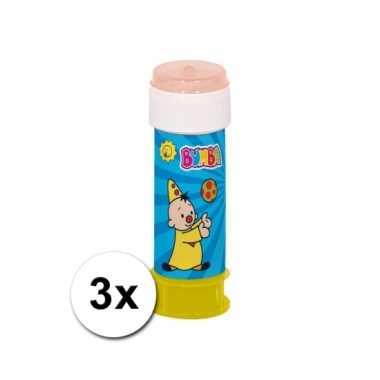 Grootverpakking met 3x bumba bellenblaas