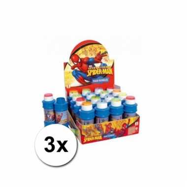 Grootverpakking spiderman bellenblaas 3x