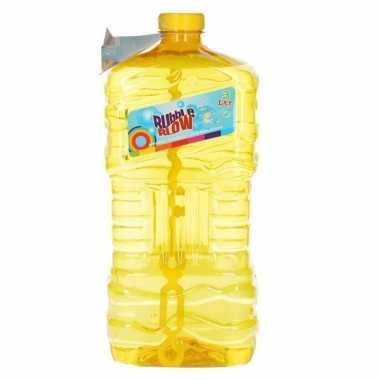 Grote bellenblaas fles geel 3 liter