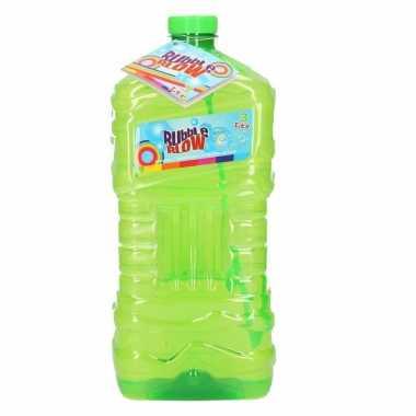 Grote bellenblaas fles groen 3 liter