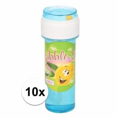 Voordelige bellenblaas citroen geur 10x