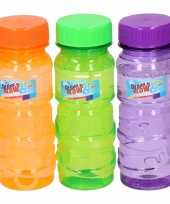 Gekleurde bellenblaas flesjes 12 stuks 115ml groen oranje paars