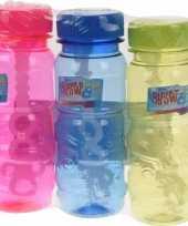 Gekleurde bellenblaas flesjes 3 stuks 115ml roze blauw groen